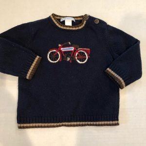 Janie and jack bike sweater